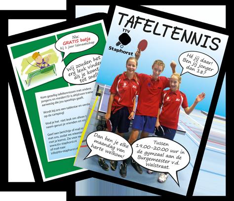 Tafeltennis Vereniging Staphorst - Flyer